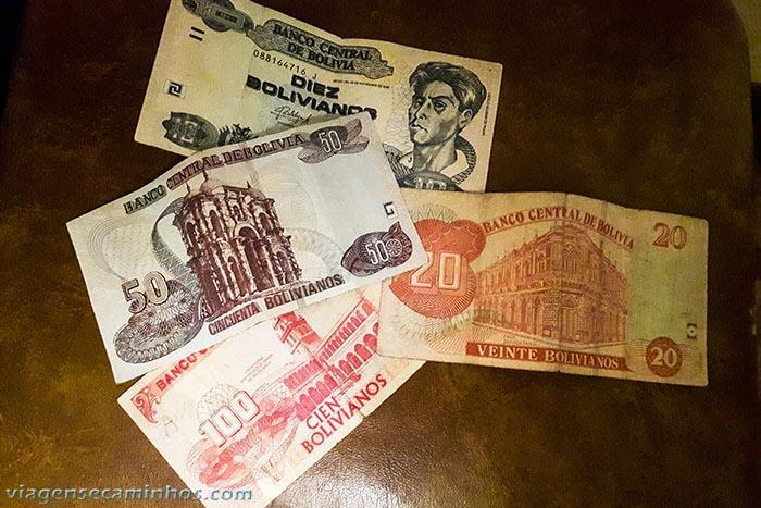 Bolivianos - moeda da Bolívia