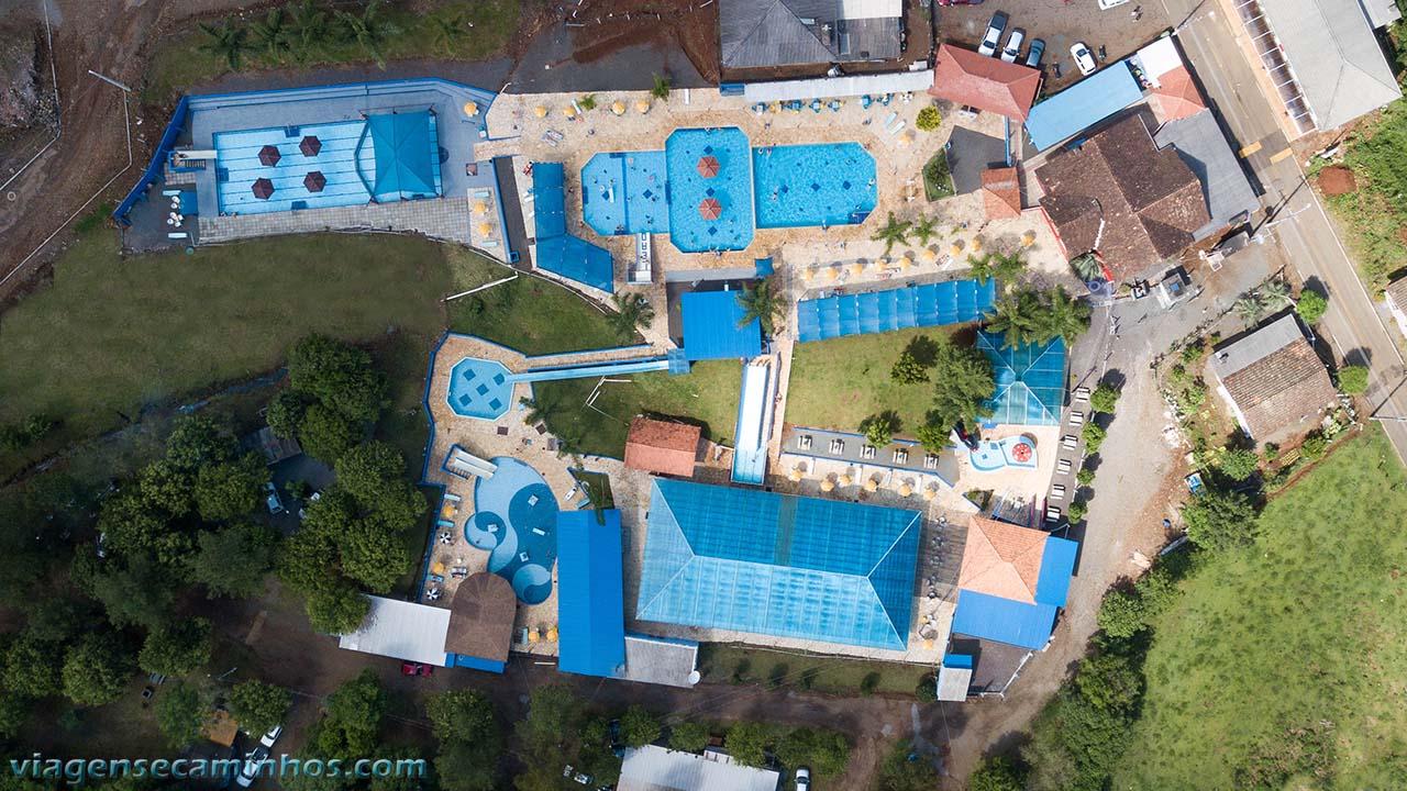 Vista aérea das Termas Leonense