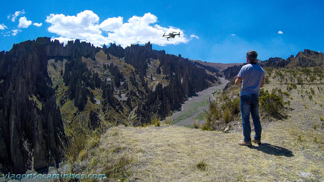 Filmando com Drone no Valle de Las Ánimas, na Bolívia