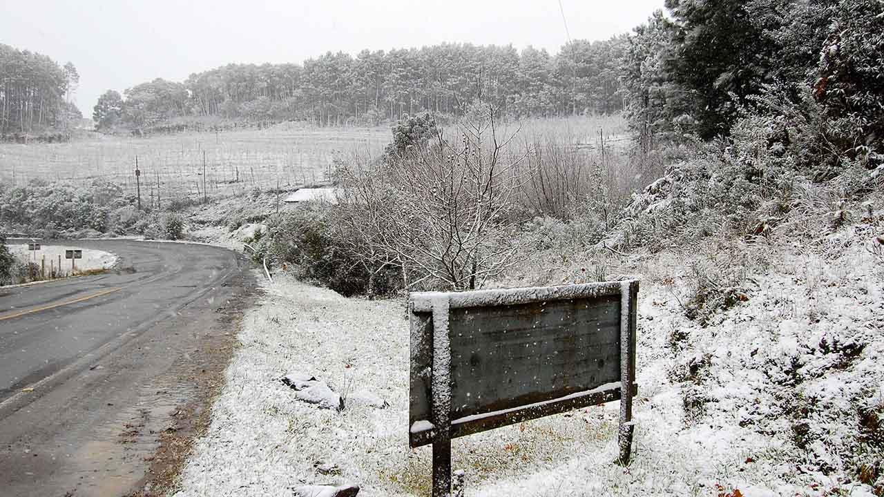 Neve em São Joaquim - Imagem: Wikipédia