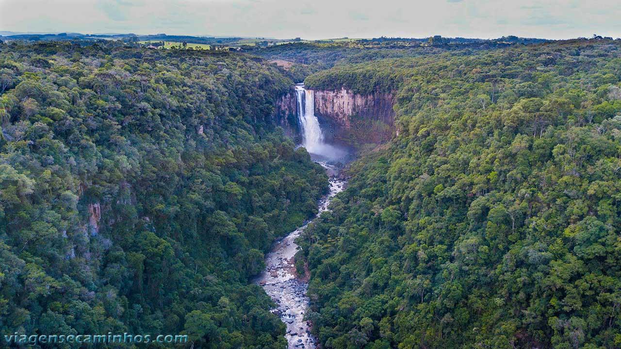 Vista aérea do cânion do Salto São João