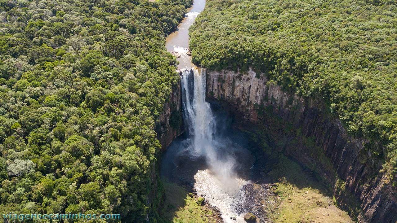 Vista aérea do Salto São João - Prudentópolis
