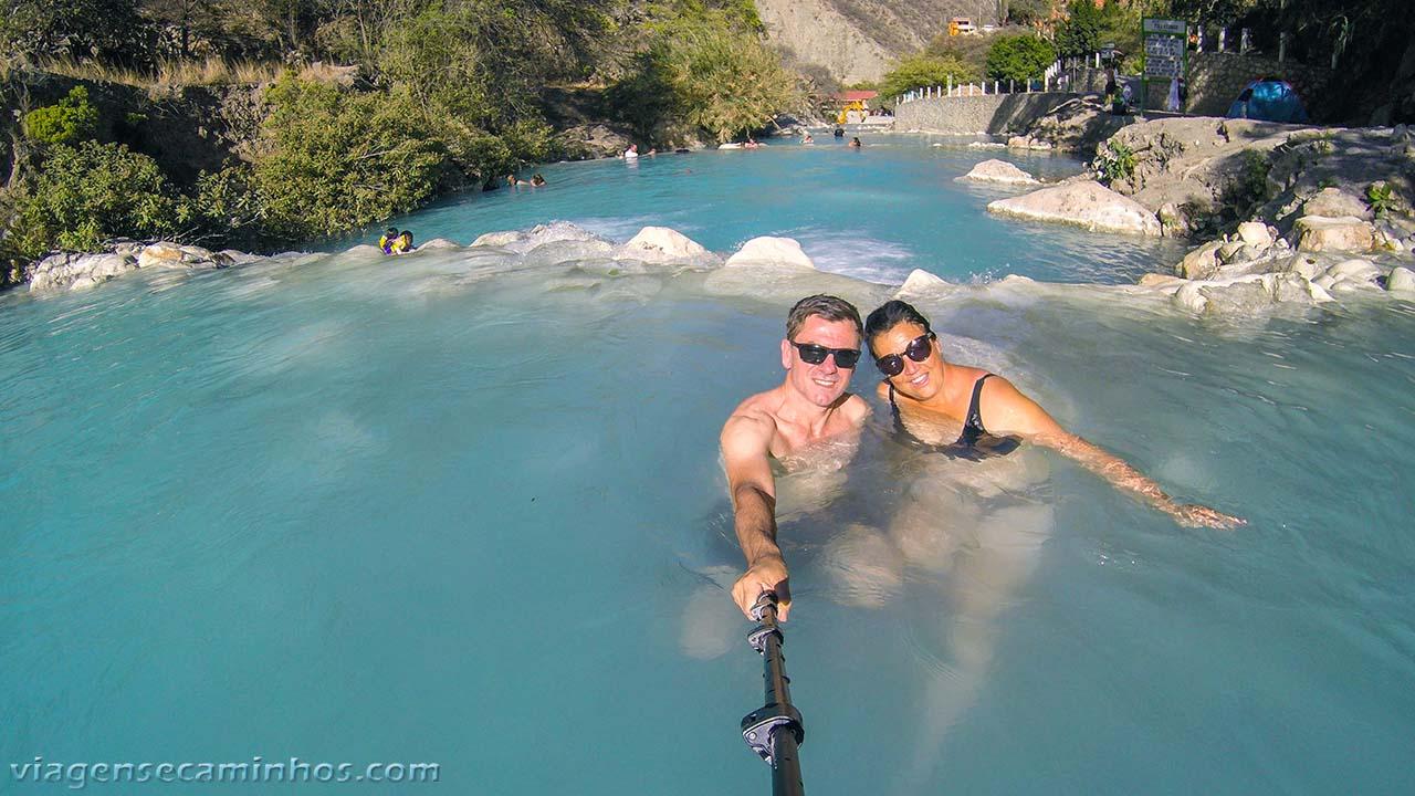 Rio de água quente em Tolantongo
