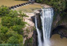 Vista aérea do Salto Barão do Rio Branco - Prudentópolis