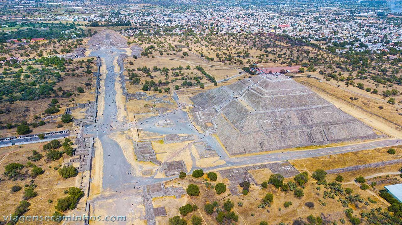 Vista aérea de Teutihuacan - México