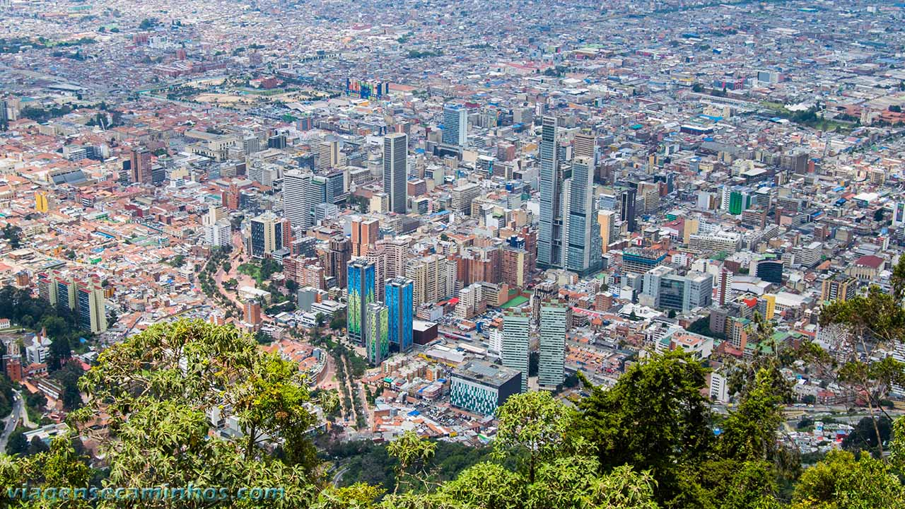 Vista do Cerro Monserrate - Bogotá