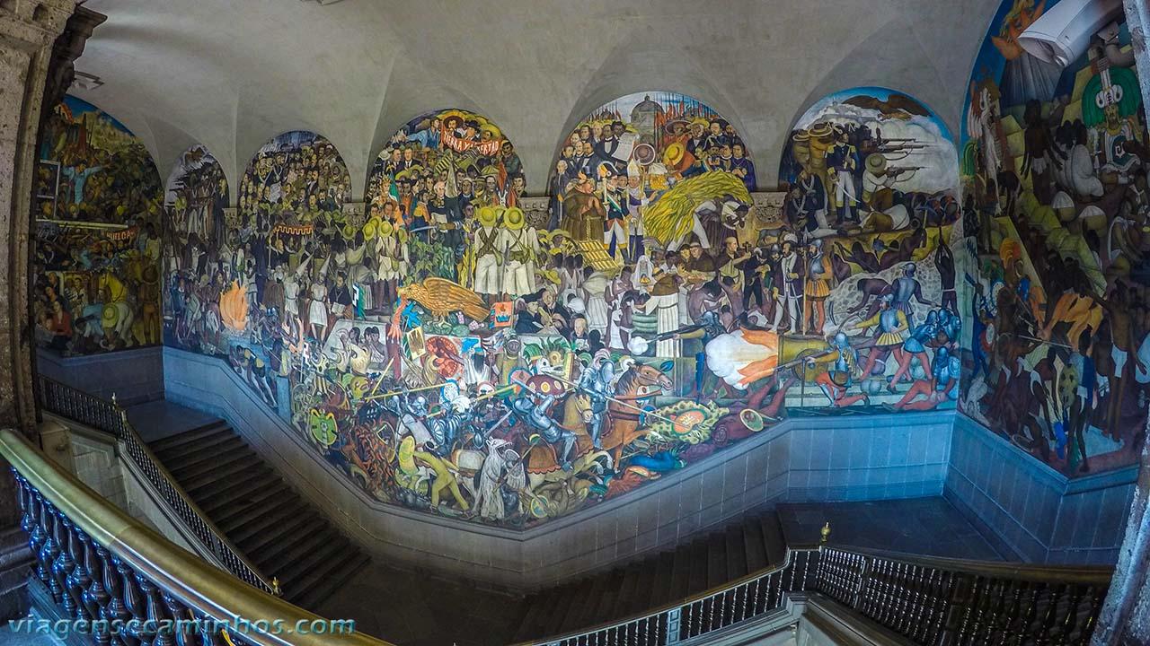 Mural do Palácio presidencial - México