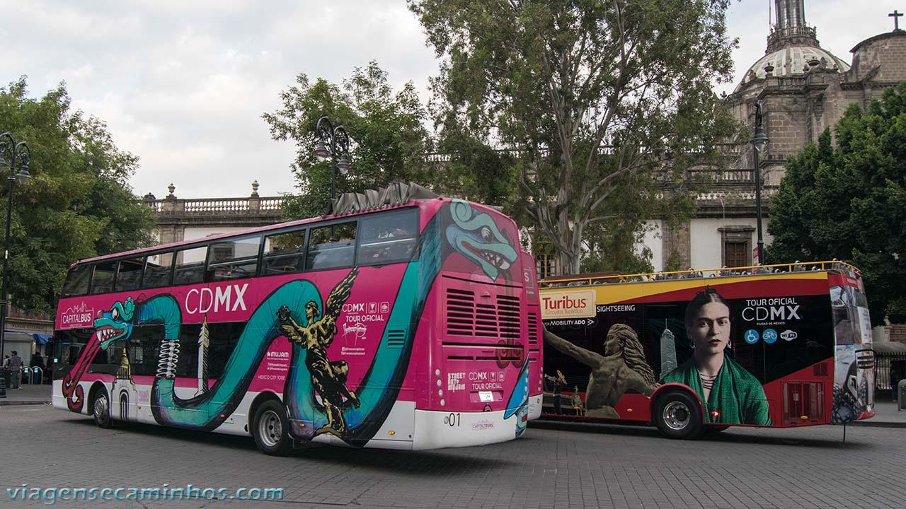 Ônibus panorâmico da cidade do México