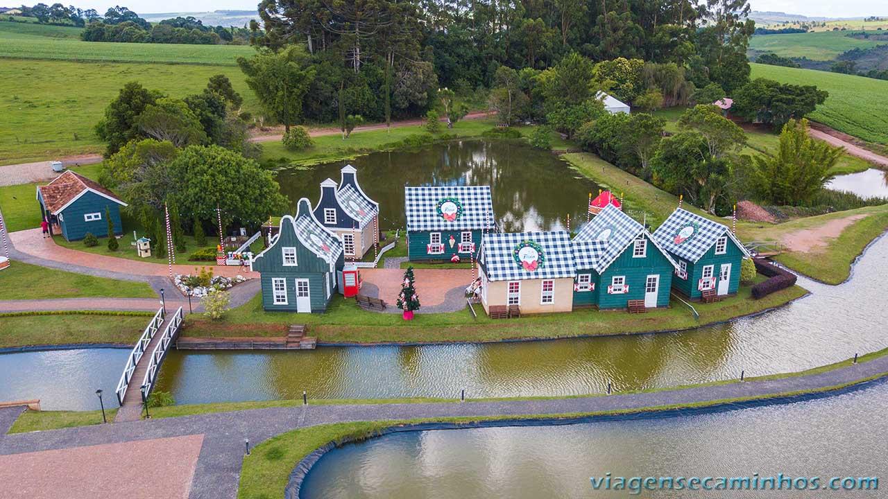Vista aérea do Parque das Águas