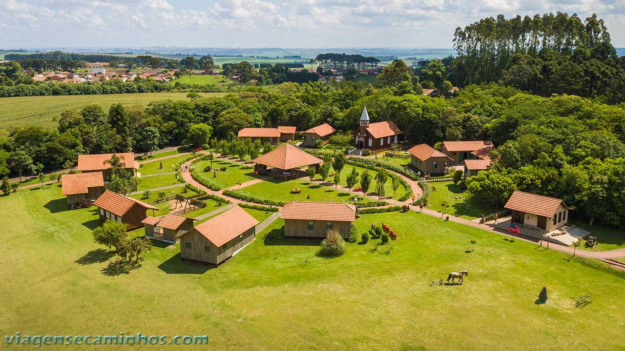 Vista aérea da Vila Histórica de Carambeí