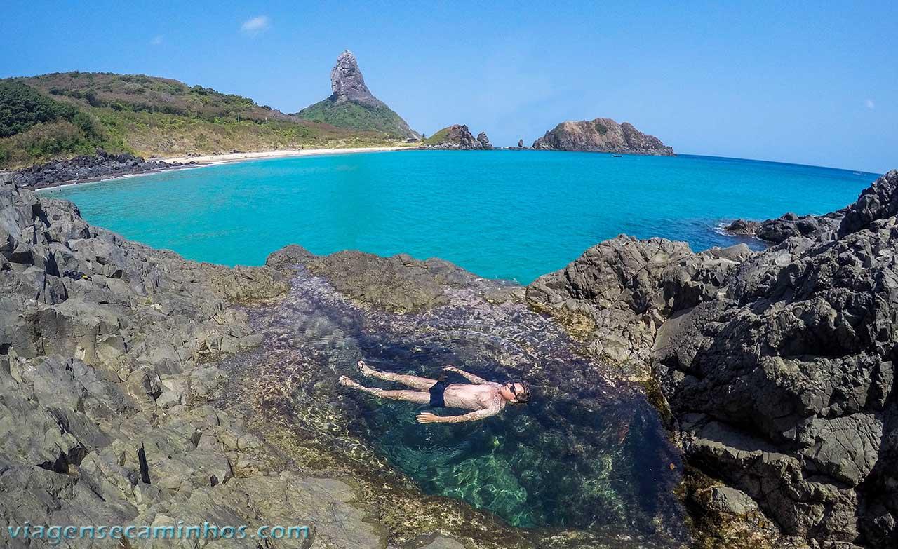 Piscina natural na Praia do Cachorro
