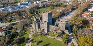Vista aérea do Castelo de Guimarães
